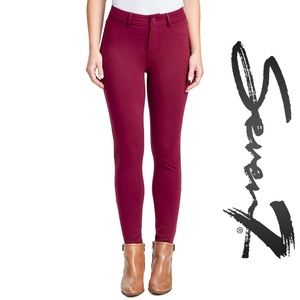 Seven7 High Rise Skinny Ponte Pant in Red